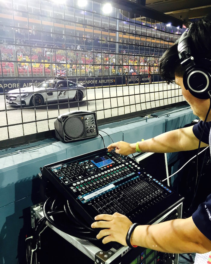 QU-16 MANAGES LIVE AND BROADCAST AUDIO AT SINGAPORE GRAND PRIX